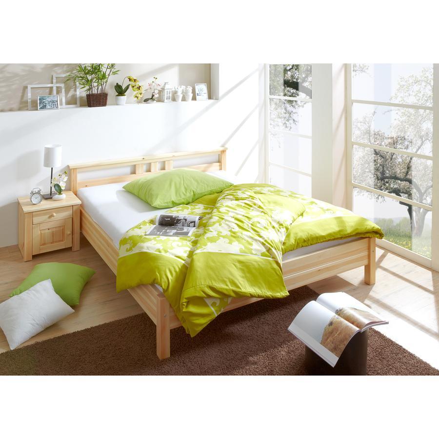 TiCAA Doppelbett Merci 140 x 200 cm natur
