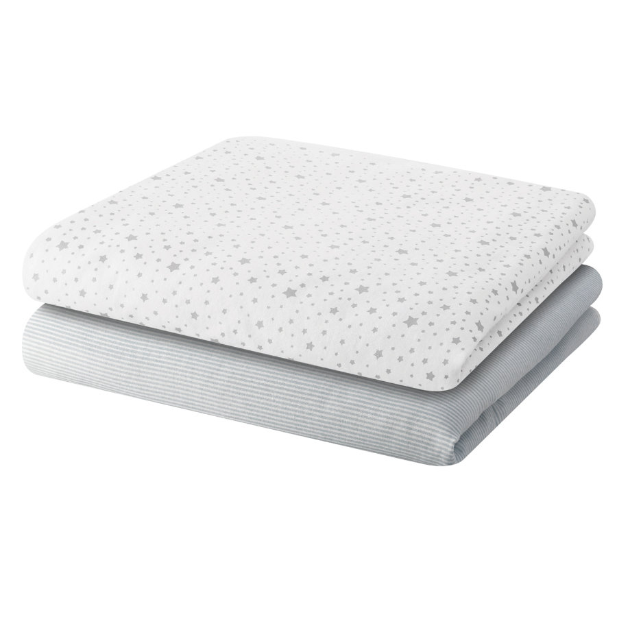 BELLYBUTTON Bébé Serviette de molleton Lot de 2 STARS light grey