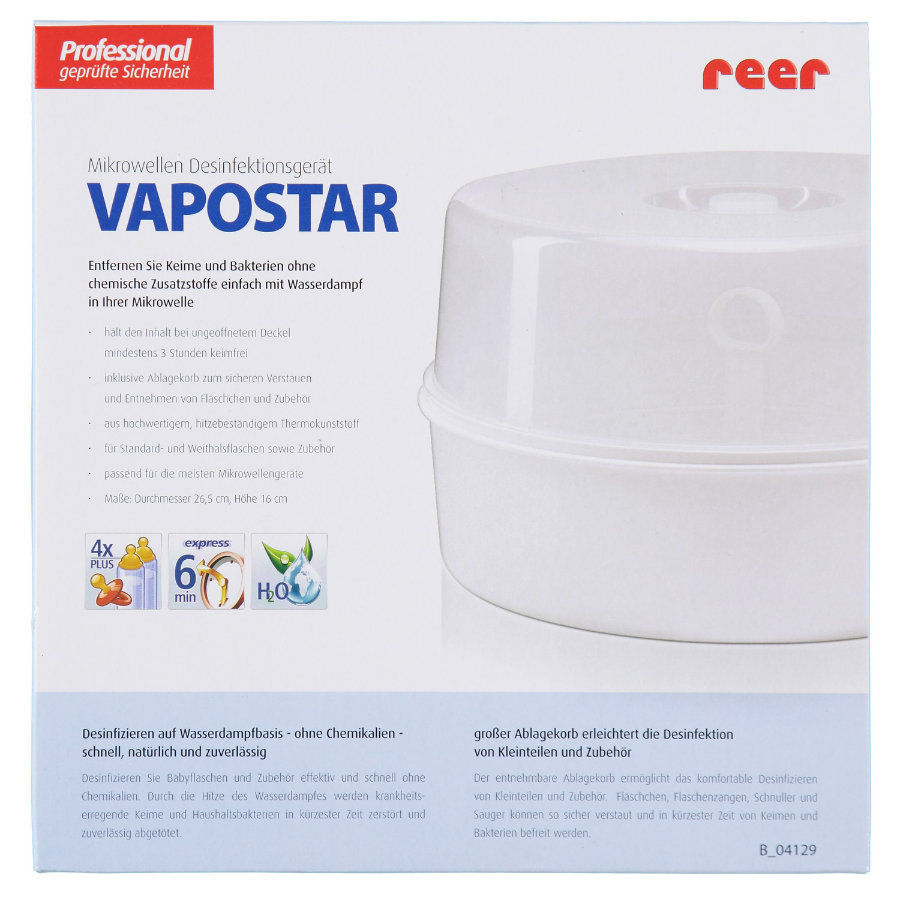 REER Sterilizzatore Vapomat per forno microonde