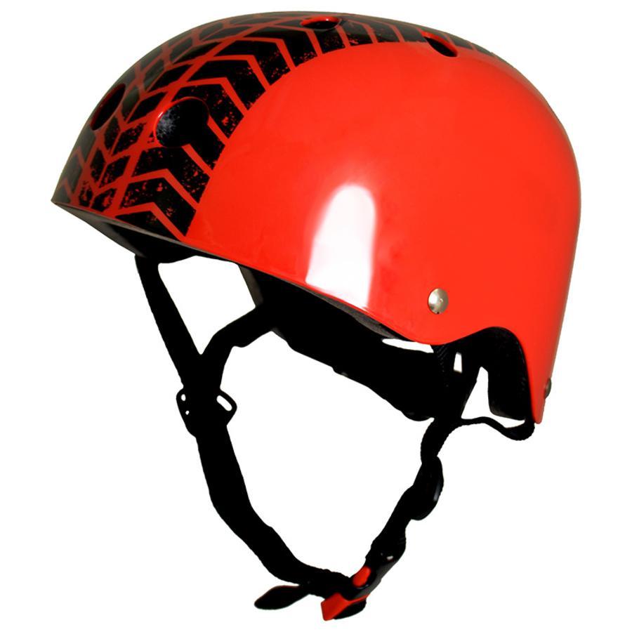 kiddimoto® Helm Design Sport, Red Tyre/StreetFighter - Maat M, 53-58cm