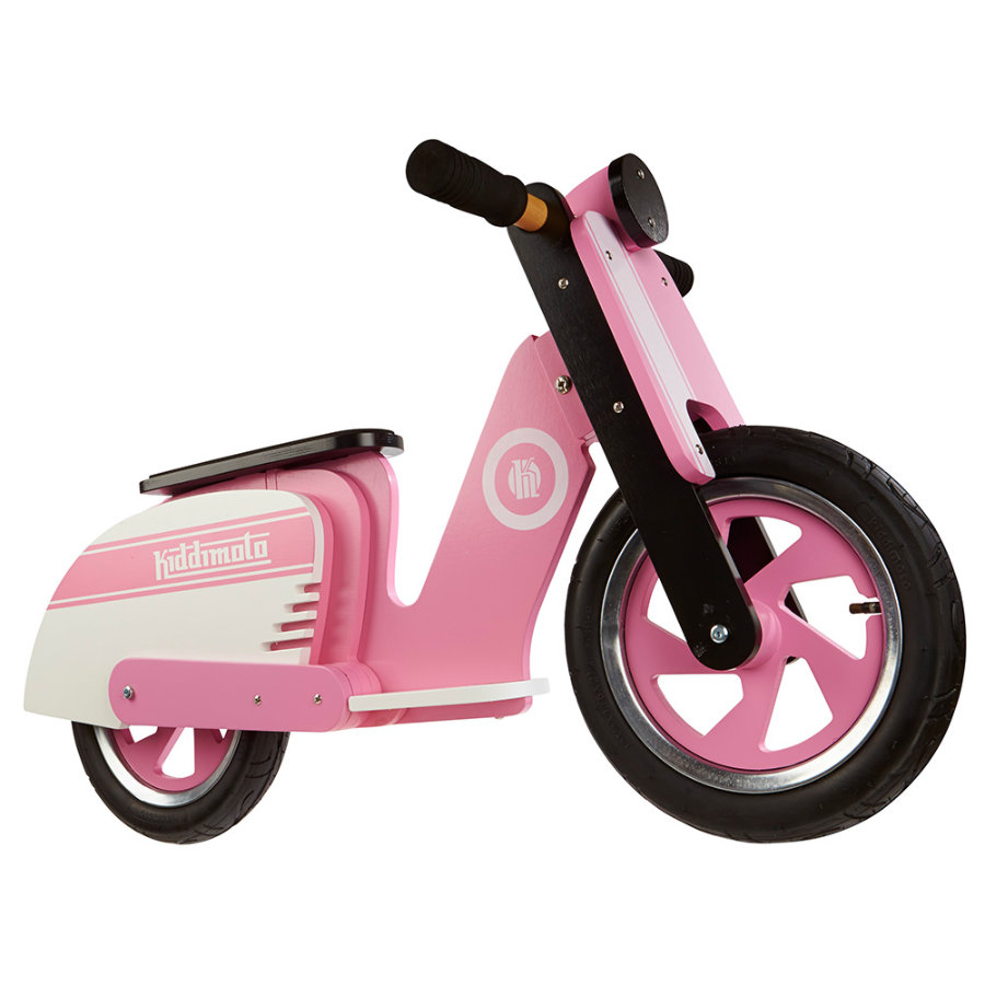 kiddimoto® Laufrad Scooter Retro - Pink Stripe