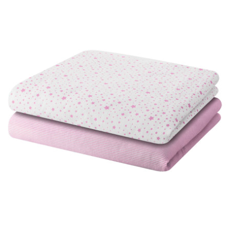 BELLYBYTTON Baby 2-pack Tygblöjor STARS rosé