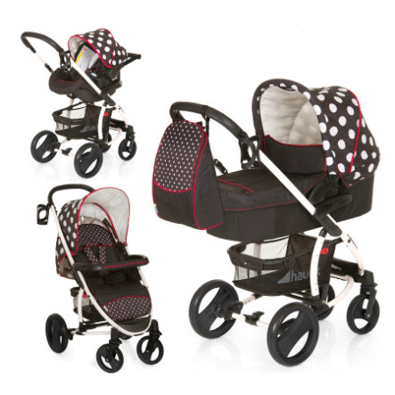 HAUCK Malibu XL All in One Set Dots Black Collection 2014