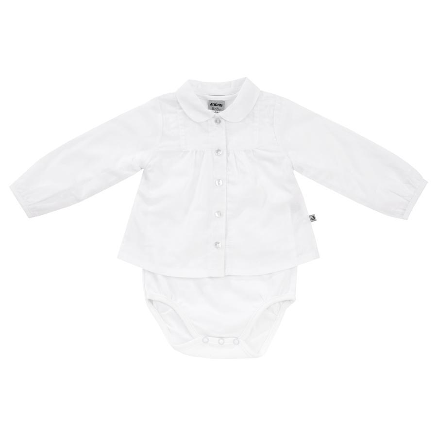 JACKY Girl s body blouse met lange mouwen wit