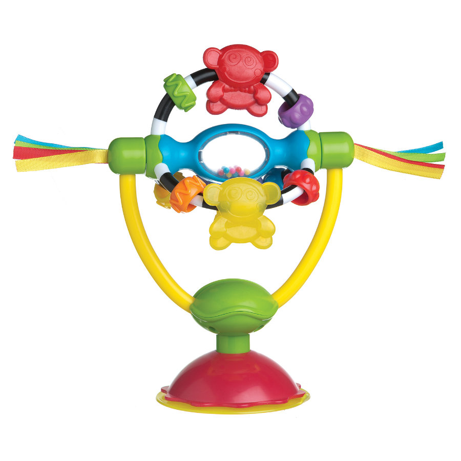 playgro Hochet pivotant pour table/chaise haute, support ventouse