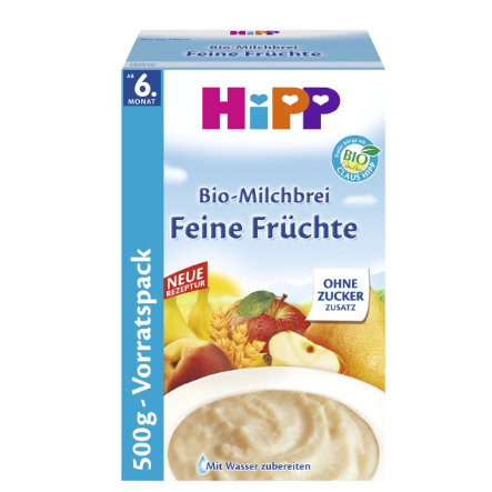 HiPP Bio Milk Cereal Good Night Fine Fruit 500g