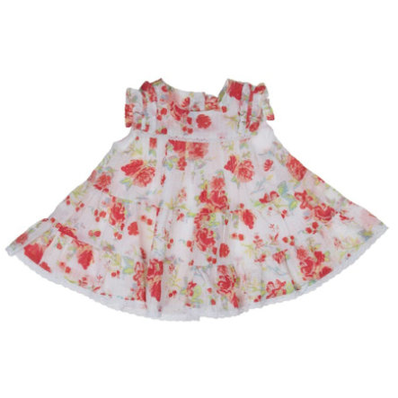 KANZ Girls Mini Sukienka FLOWERS white