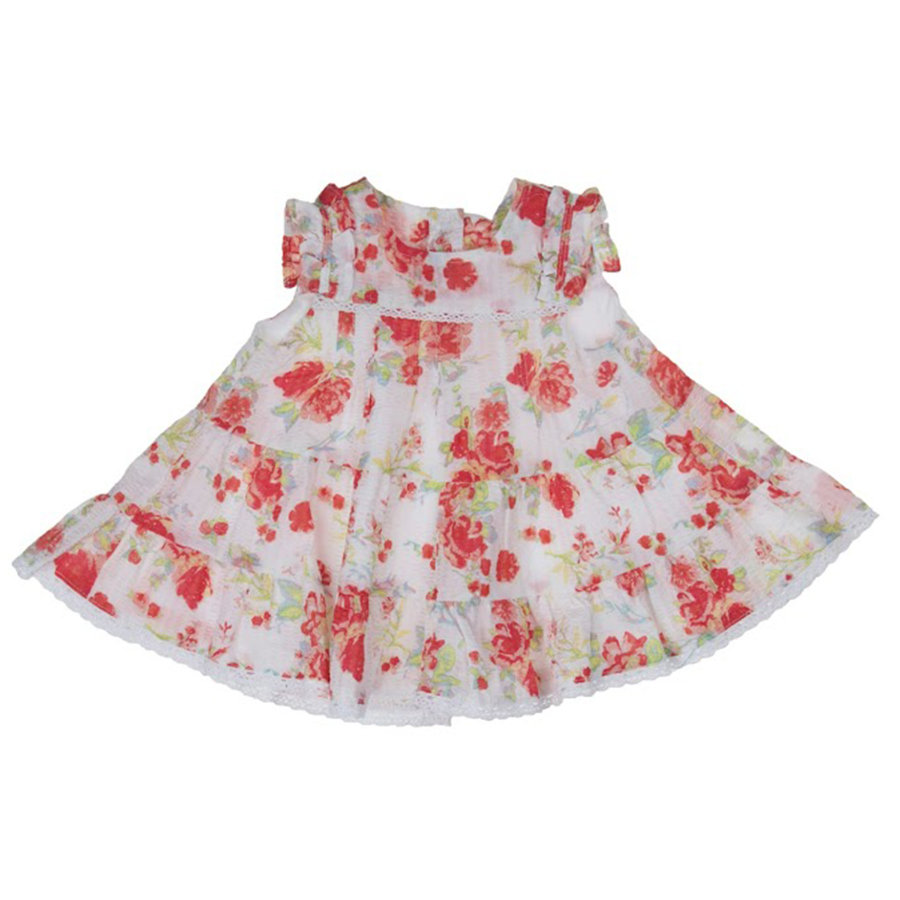 KANZ Girls Mini Kleid FLOWERS white