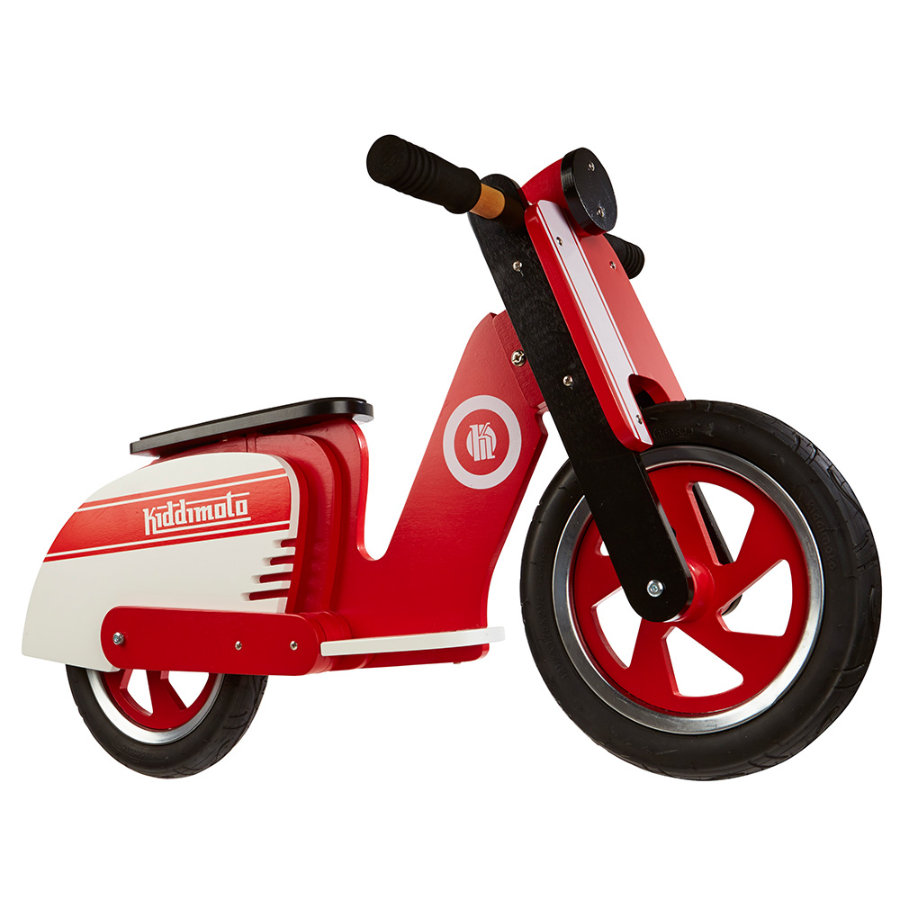 kiddimoto® Laufrad Scooter Retro - Red Stripe