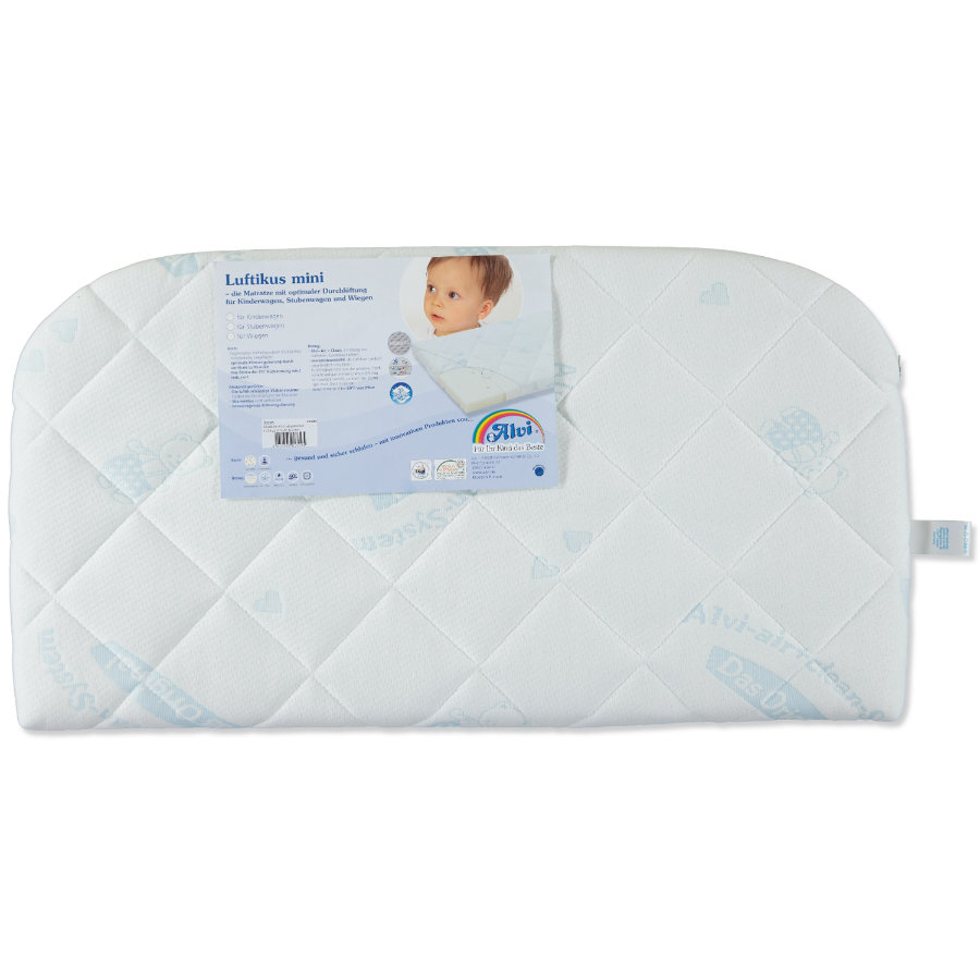 ALVI Luftikus Mini Matras Dry-hoes Air & Clean 42 x 80 voor bijzetbed afgerond