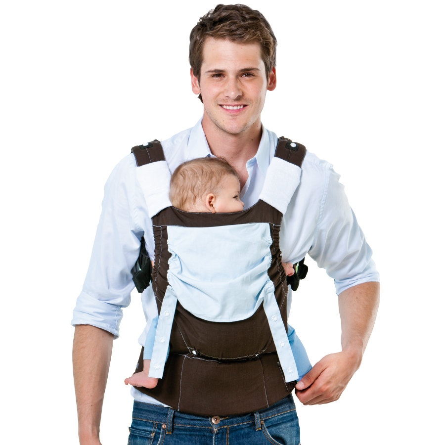 AMAZONAS Baby Trage Smart Carrier Earth braun/blau