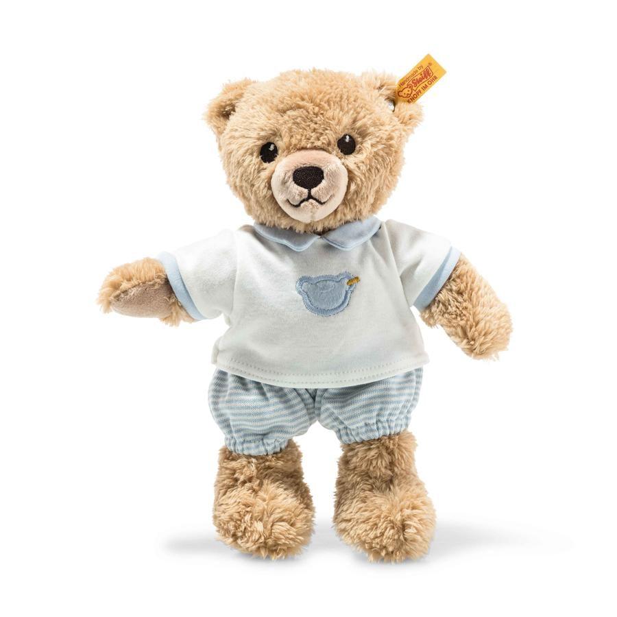STEIFF Sov-godt-bjørn, 25 cm, blå