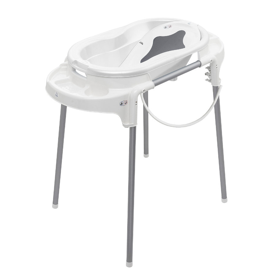 Rotho Ensemble baignoire bébé TOP, blanc, 4 pièces