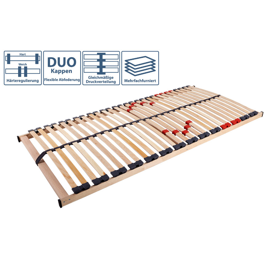 TICAA Rete a doghe in legno Ti-Flex Classic 28 (90 x 200 cm)