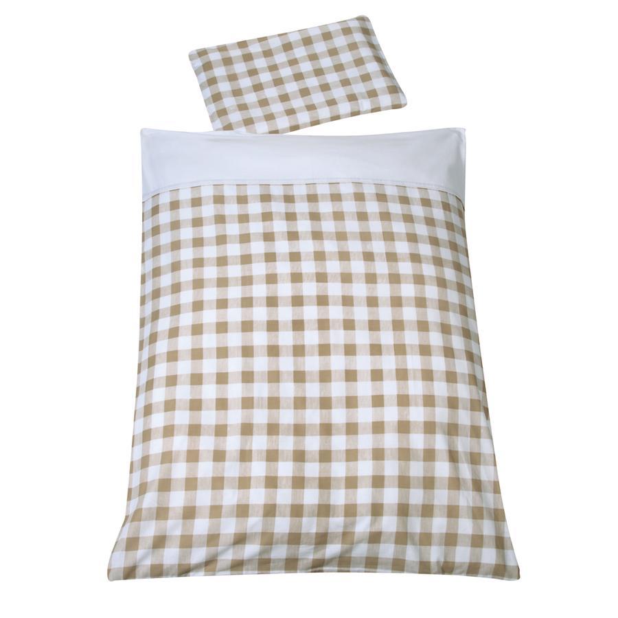 Schardt Parure de lit enfant 4 pièces Vichy beige 40x60/100x135 cm