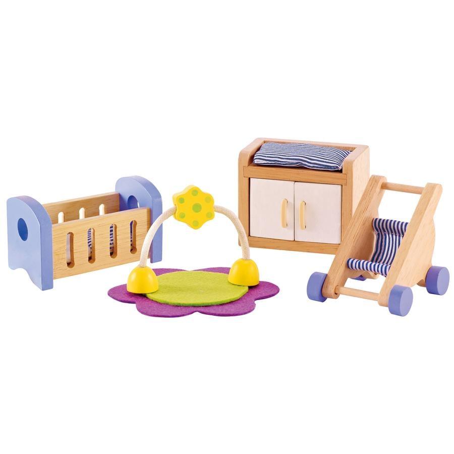 Hape Chambre pour poupée bois 8 pièces E3459