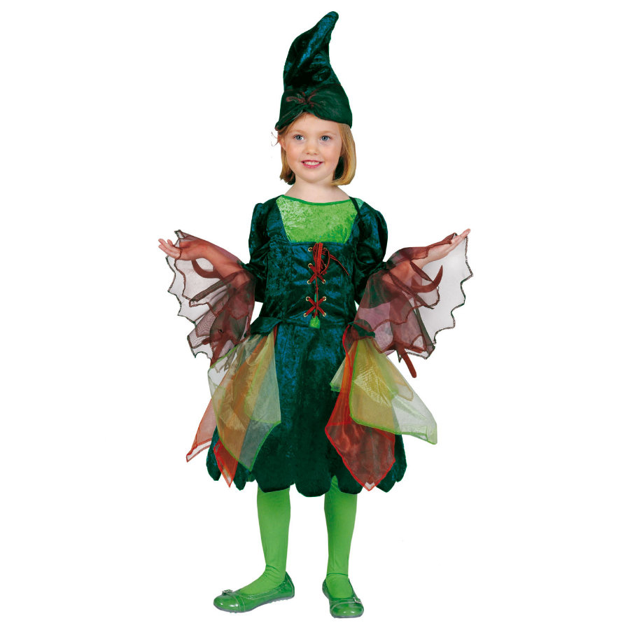 FUNNY FASHION Carnival Costume Pansy Elf