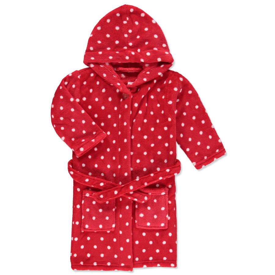PLAYSHOES Fleece-Badjas Stippen rood