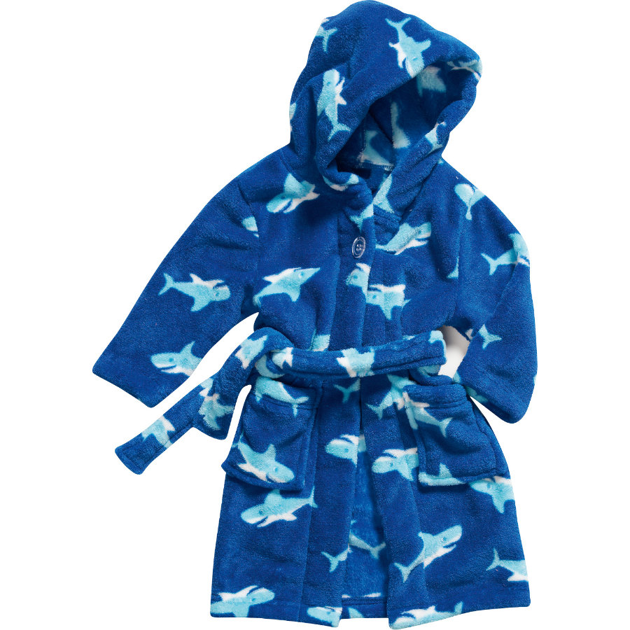 PLAYSHOES Fleece-Bademantel HAI