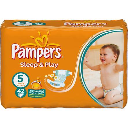 Pampers pleny Sleep&Play VPTaglia 5 Junior (11-25 Kg) Confezione con 42 pezzi