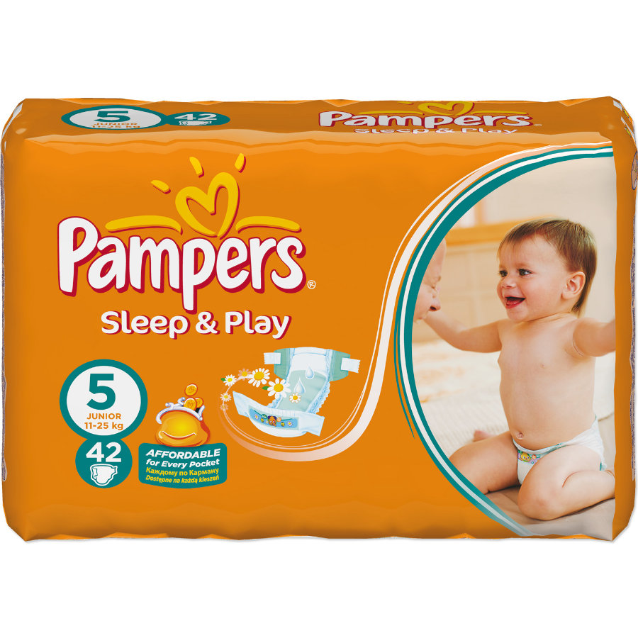 Pampers Sleep&Play VP junior Pieluszki rozm. 5 (11-25 kg) 42 szt.
