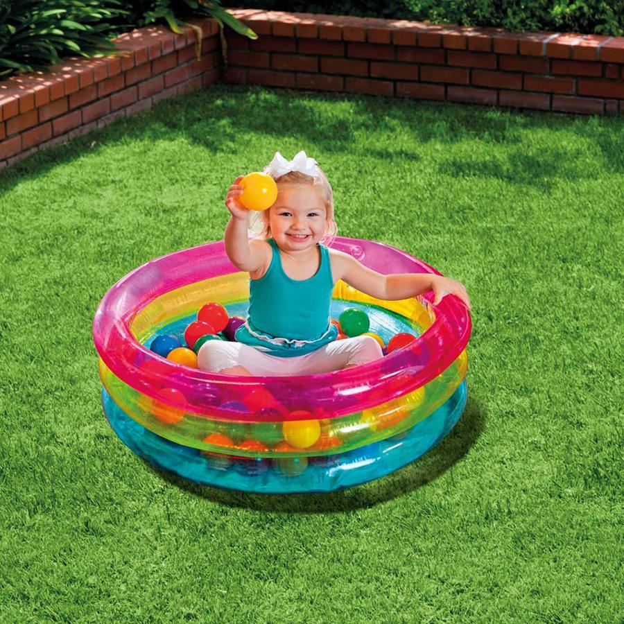 INTEX® Bällebad - Classic 3-Ring Baby Ball Pit