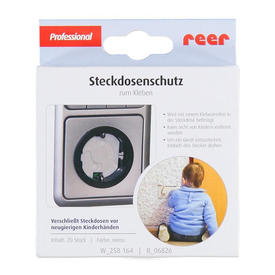 REER Steckdosenschutz weiss - klebbar 20 Stück