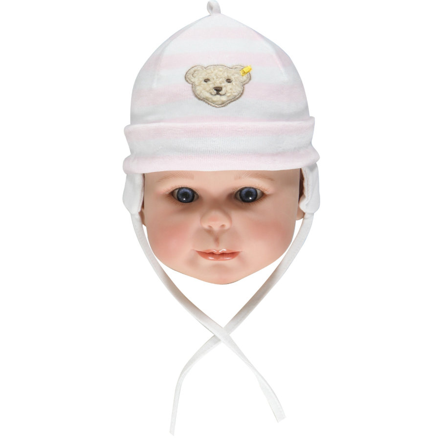 Steiff Girls Baby Nicki Mütze barely pink