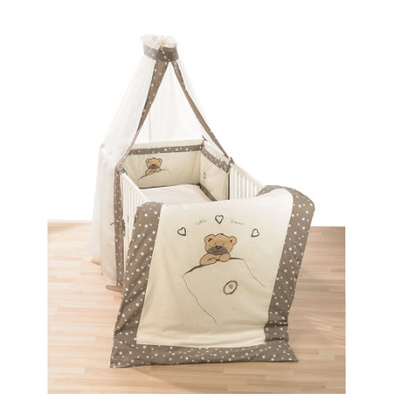 ALVI Bettset Applikation - Little bear beige