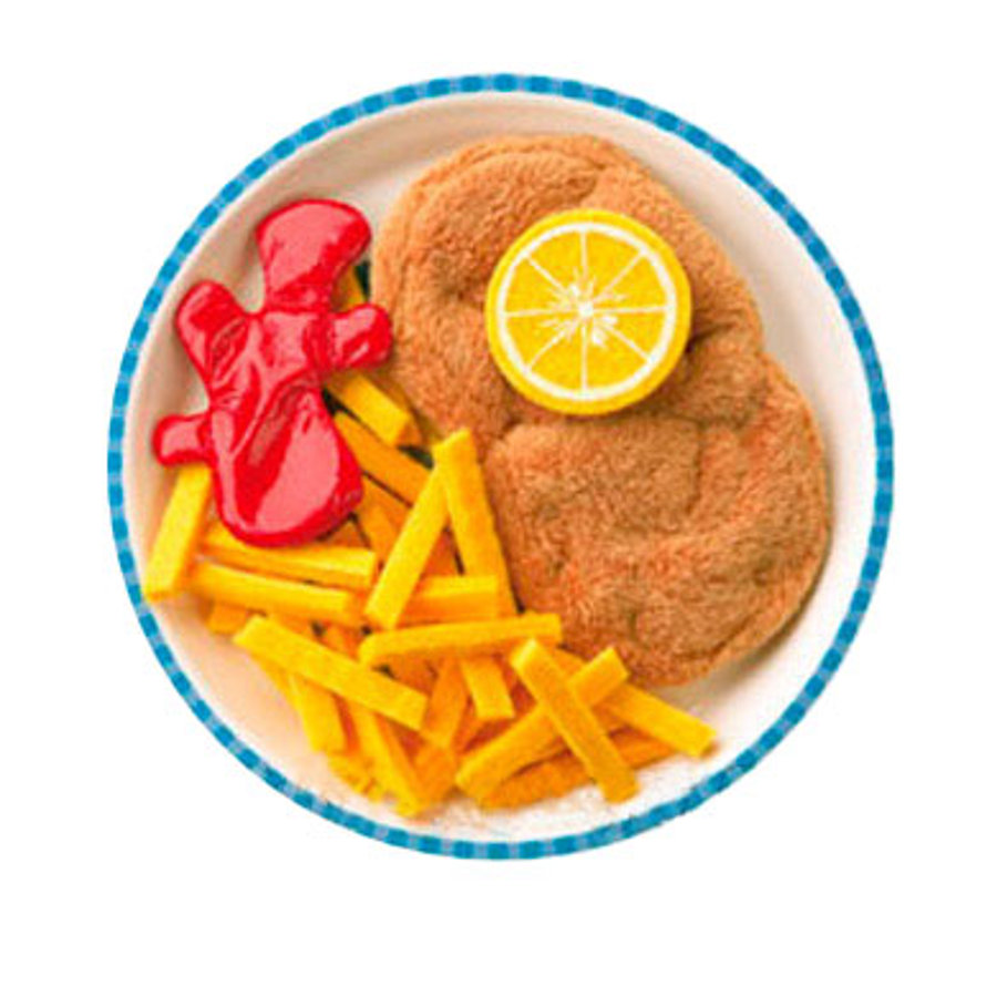 HABA Biofino Cotoletta di carne con patate fritte