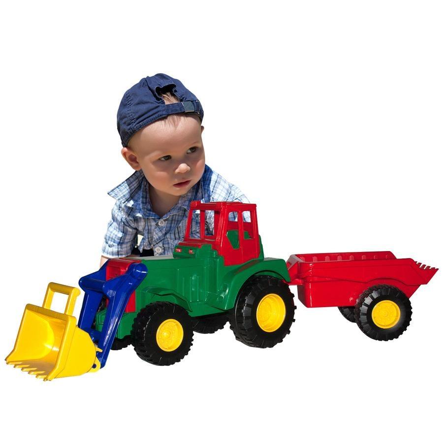LENA Powerful Giants XXL - Tracteur avec pelle et remorque