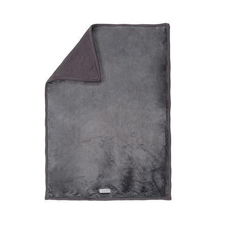 NOUKIES Etoiles Couverture 100 x 140 cm Tricoloudoux, gris foncé