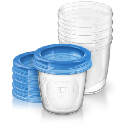 Philips Avent Vasos de almacenamiento de alimentos infantiles SCF639/05 5 x 240 ml a partir de 6 meses