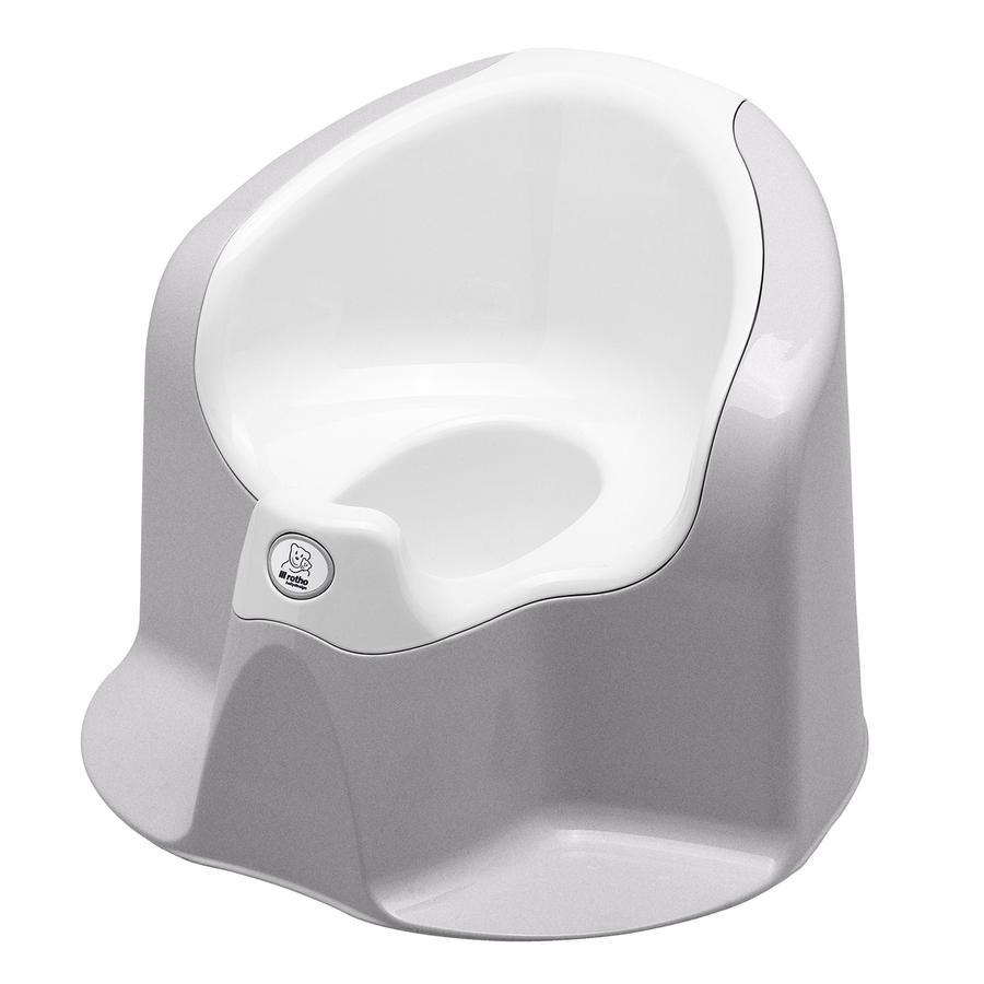 ROTHO Pot TOP Xtra, gris argenté/blanc