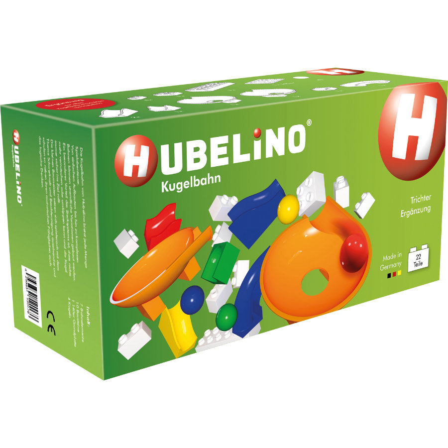 HUBELINO® Kugelbahn Trichter Ergänzung 22 Teile