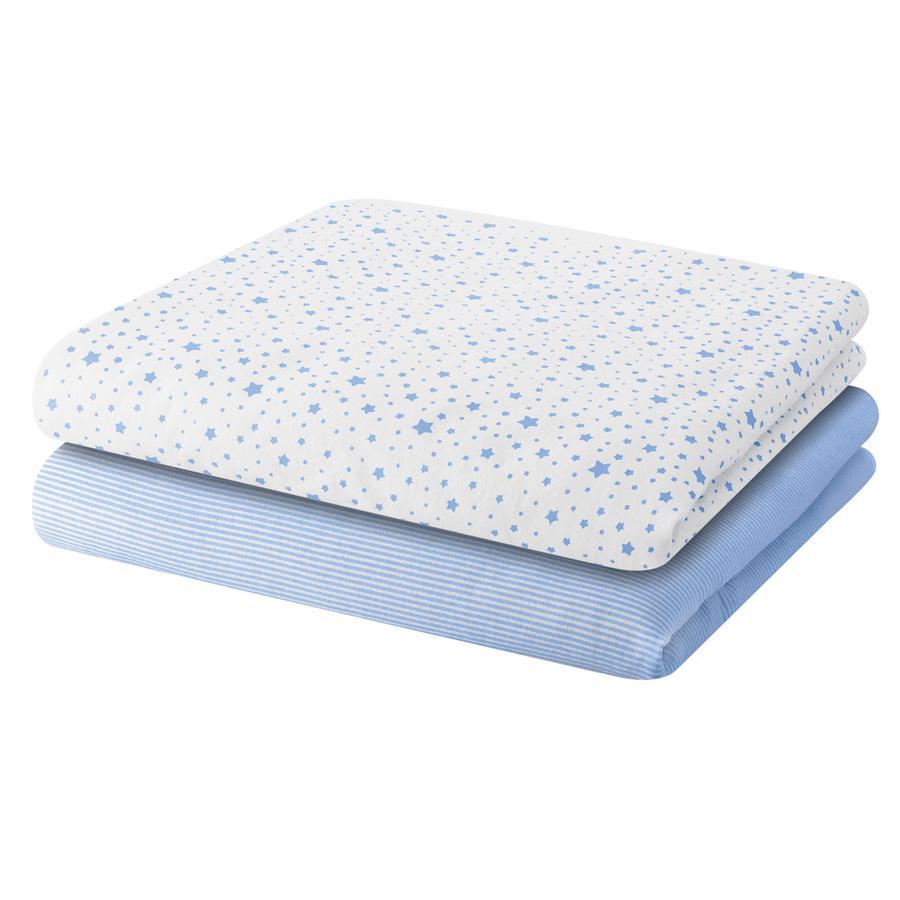 BELLYBUTTON Pieluszki bawełniane STARS 2 szt. light blue