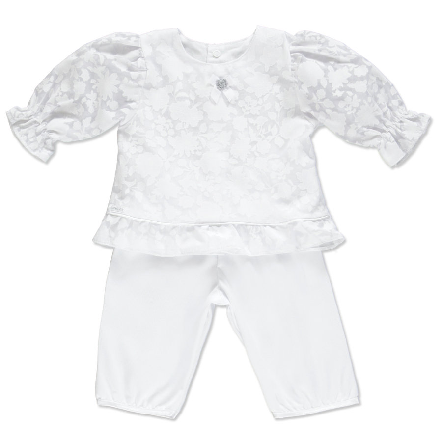 CARLINA Girls Baby Taufset 2-tlg. weiß