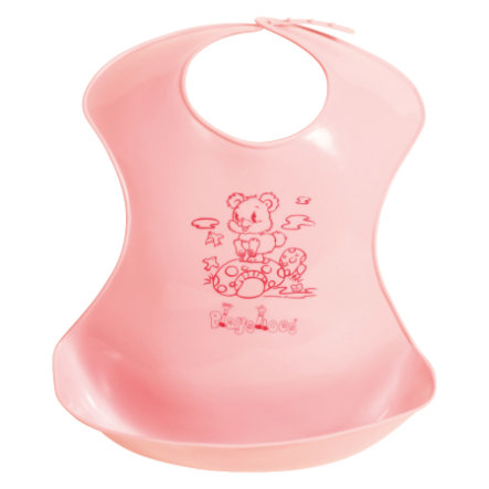 PLAYSHOES Plastic Bib with Collecting Cup pink