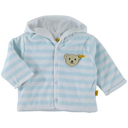 STEIFF Girls Baby Nicki Bluza z kapturem w paski kolor niebieski