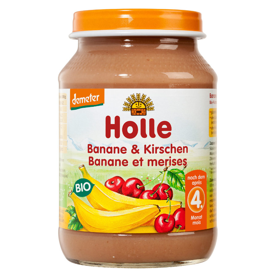 HOLLE Organic Banana and Cherries 190g
