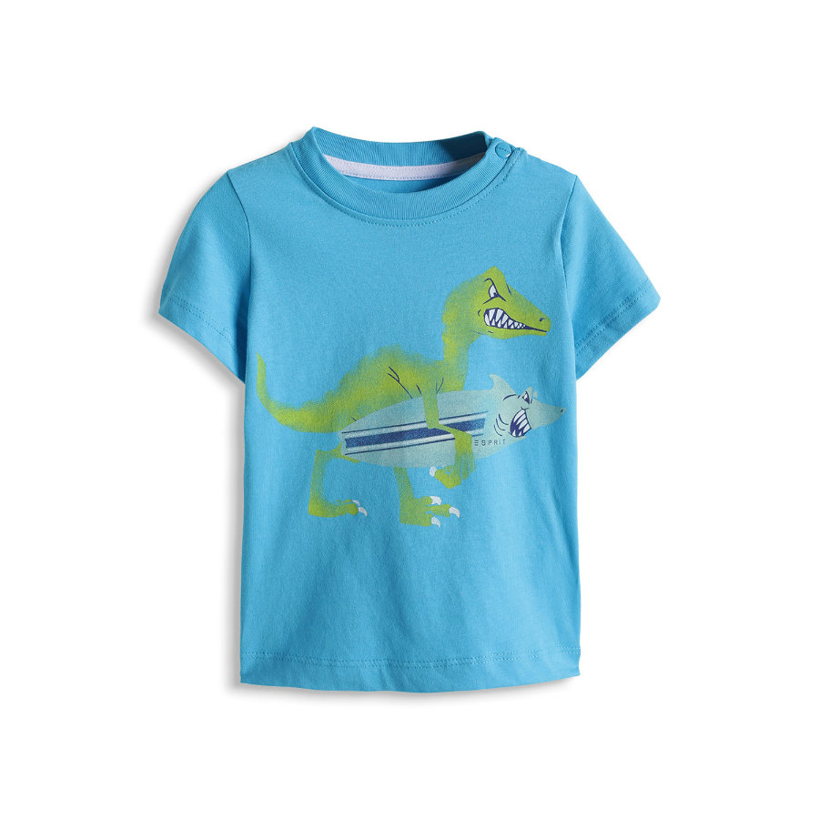 ESPRIT Boys Baby T-Shirt SURF DINO azure turquoise