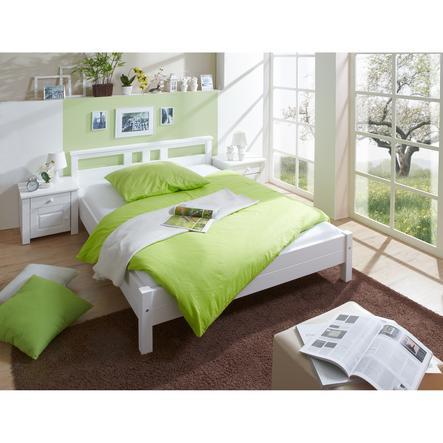 TiCAA Doppelbett Merci 140 x 200 cm weiß