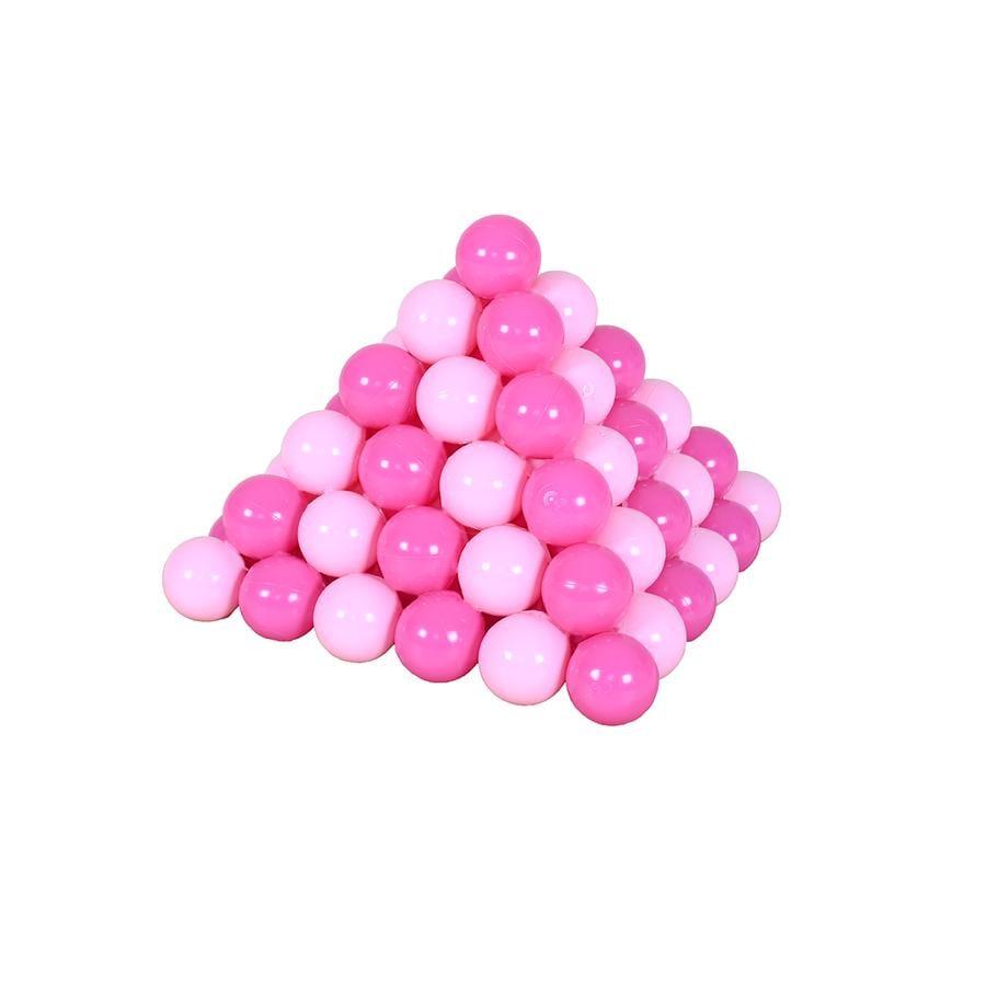 knorr® toys - Bälleset - 100 Stück Girl sortiert Pink / Rosa