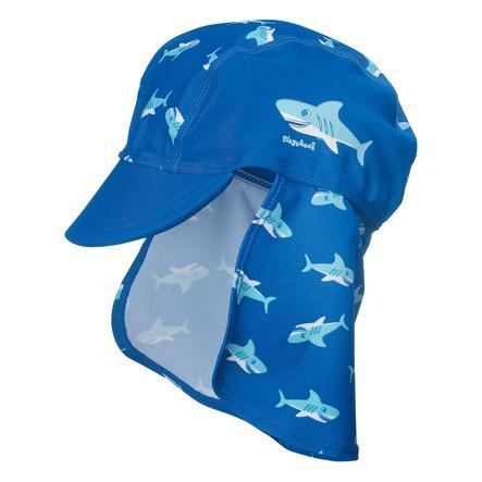 PLAYSHOES Boys UV beskyttelse solhat HAJ marine