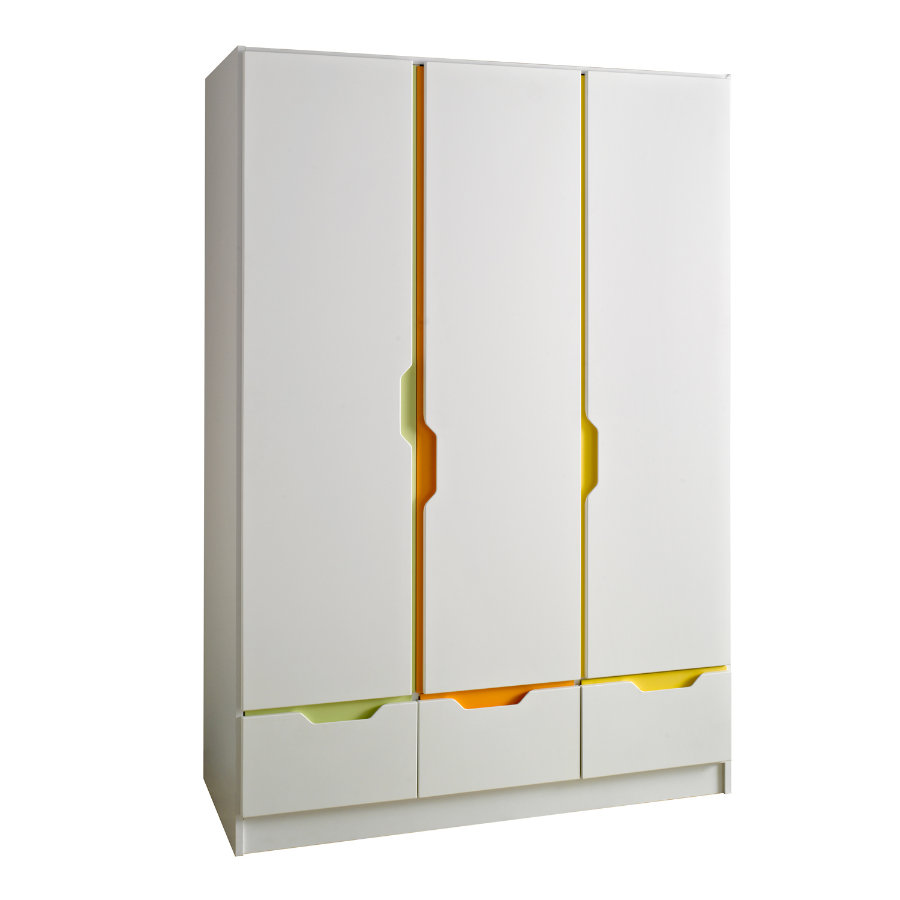 Geuther Klædeskab Fresh 3-dørs multi-color