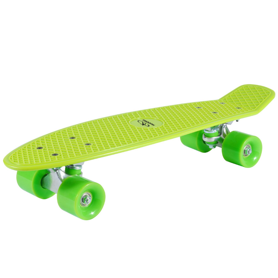 HUDORA Skateboard Retro Lemon Green 12136