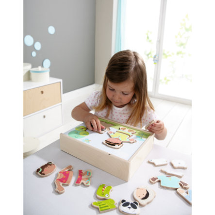 HABA Drewniane puzzle Dzieci świata 300140
