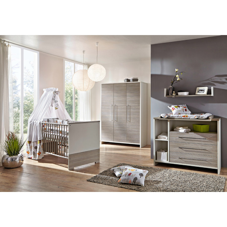 Kinderzimmer Eco Silber 3-türig