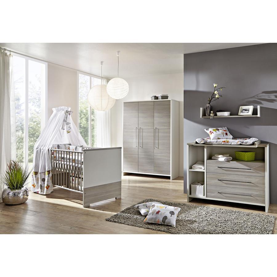 Schardt set cameretta neonato eco silber con lettino for Kinderzimmer komplett auto