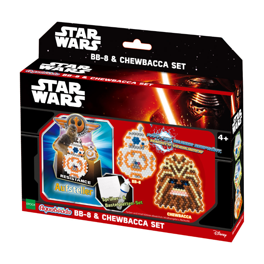 Aquabeads® Star Wars: Set personaggi BB-8 & Chewbacca